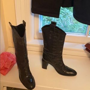 Joan and david couture women's black boots